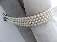 Faux pearls Decorative tie backs curtain holders drapery