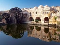 Photo about Reflect in the city of Hama, Syria. Image of hama, arch, architecture - 11795585 Romanesque Architecture, Ancient Architecture, Syria Before And After, Interior Fit Out, Luxury Interior, Interior Design, Light Of The World, World Cities, Ancient Ruins