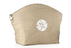 Large Sand Dollar Cosmetic Bag,  Natural on OneKingsLane.com