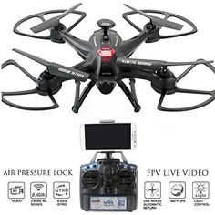 Drone with Camera Live Video Controller - Navigator FPV High Speed Quadcopter, First Person View Flight in Real Time with VR, Air Pressure Sensor Attitude Lock, Headless Mode, Return Home Key ** You can get additional details at the image link.