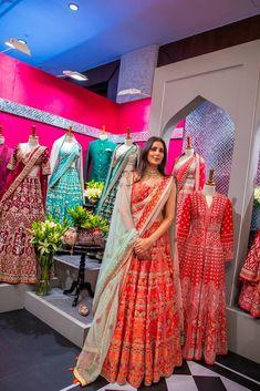 A ravishing crimson red lehenga is to die for! Vogue Wedding, Desi Wedding, Wedding Show, Wedding Goals, Wedding Things, Wedding Dress, Red Lehenga, Indian Lehenga, Bridal Lehenga