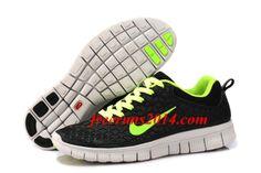 Mens Nike Free 6.0 Black Green Shoes   #Black  #Womens #Sneakers