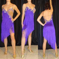 Purple Latin Fringe Dress by DLDanceWear on Etsy, $599.99