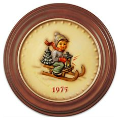 1975 Annual Hummel Plate No. 268 Ride into Christmas. $59.00