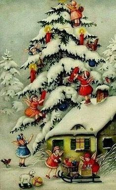 Christmas Clipart, Retro Christmas, Vintage Christmas Cards, Christmas Love, Christmas Pictures, Vintage Cards, Winter Christmas, Christmas Crafts, Christmas Decorations
