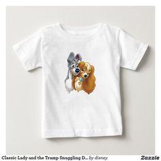 Classic Lady and the Tramp Snuggling. Baby, bebé. Disney. Producto disponible en tienda Zazzle. Vestuario, moda. Product available in Zazzle store. Fashion wardrobe. Regalos, Gifts. Link to product: http://www.zazzle.com/classic_lady_and_the_tramp_snuggling_disney_baby_t_shirt-235919016799792904?CMPN=shareicon&lang=en&social=true&rf=238167879144476949 #disney #camiseta #tshirt