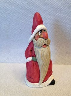 Walking Santa...Not For Sale...RWK Woodcarving. https://www.etsy.com/shop/rwkwoodcarving