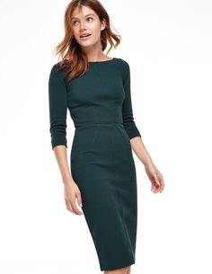 Have this dress and love it. Has a ribbed fabric and fun exposed zipper in the back. Am currently missing it during the combination of summer + pregnancy. // Aurelia Ottoman Dress, Boden
