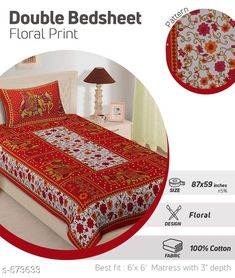 Checkout this latest Bedsheets Product Name: *Designer Cotton Printed Single Bedsheets* Fabric: Bedsheet - Cotton Pillow Covers - Cotton Dimension: ( L X W ) - Bedsheet - 87 in X 59 in Pillow Cover - 27 in X 18 in Description: It Has 1 Piece Of Single Bedsheet With 1 Piece Of Pillow Cover  Work: Printed Thread Count: 144 Country of Origin: India Easy Returns Available In Case Of Any Issue   Catalog Rating: ★3.9 (247)  Catalog Name: Sanganeri Scenic Printed Single Bedsheets Vol 3 CatalogID_63736 C53-SC1101 Code: 503-573633-726