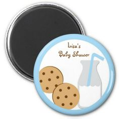 Cookies and Milk Party Favor Magnets