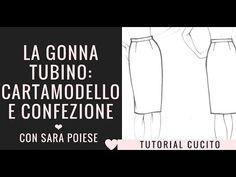 Come cucire la gonna tubino - tutorial di cucito con Sara Poiese - YouTube Sewing Patterns Free, E Design, Youtube, My Love, Memes, Apron, Diy, Dressmaking, Creativity
