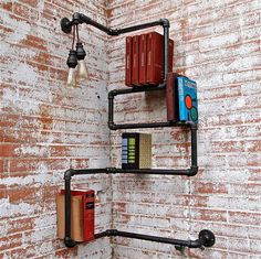 Industrial Pipe Corner Shelf, Press On . Etsy