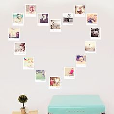 "Creative photo gifts for a baby shower or new baby: A family ""tree"" from photo decals"