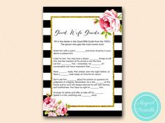 BS10B-good-wife-guide-1950-black-stripes-pink-floral-chic-bridal-shower-game