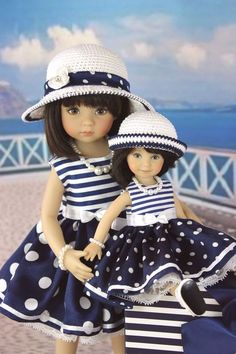 Outfit for doll Dianna Effner Little Darling,Heartstring For two dolls. Sewing Doll Clothes, American Doll Clothes, Girl Doll Clothes, Doll Clothes Patterns, Girl Dolls, Dolls Dolls, Fashion Kids, Toddler Fashion, Fashion Dolls