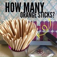 Game!!! Guess how many orange sticks there are! Closest without going over wins!