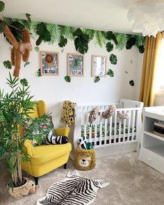 Jungle Baby Room, Jungle Theme Nursery, Safari Room, Jungle Bedroom, Baby Bedroom, Nursery Room, Kids Bedroom, Baby Room Wall Decor, Baby Room Themes