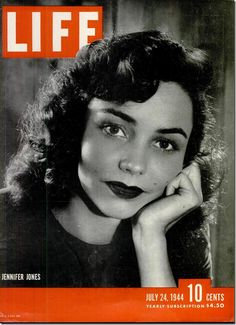 """Life Magazine, July 24, 1944. """"Jennifer Jones, a quiet, 24-year-old movie newcomer, last March startled Hollywood by winning the Academy Award for her performance in """"The Song of Bernadette."""" In her second major movie, """"Since You Went Away,"""" she gives another warm and sensitive performance. She is especially good in scenes with her real-life husband, Robert Walker."""""""