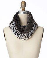 Leopard Print Faux Fur Popover - A spot-on leopard print adds the perfect touch of wild style to this plush accessory.