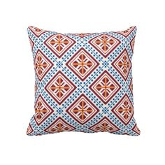 Ethnic Pattern 1 Throw Pillow
