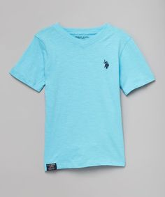 Loving this Swimming Blue V-Neck Tee - Toddler & Boys on #zulily! #zulilyfinds