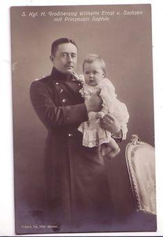 Grand-Duke-Wilhelm-Ernst-of-SAXE-WEIMAR-EISENACH with Princess Sophie 1913