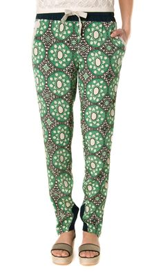 Sea NY Batik-Lace Silk Pants