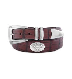 NCAA Texas Longhorns Tip Leather Concho Belt Zeppelin Products Inc