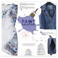 """Make a Splash With Paint Splatters"" by meyli-meyli ❤ liked on Polyvore featuring Aminaka Wilmont, Valentino, Marsèll and paintsplatter"
