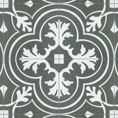 Merola Tile Twenties Classic Encaustic Ceramic Floor and Wall Tile - in. Tile - The Home Depot Mosaic Tiles, Wall Tiles, Cement Tiles, Shower Floor, Tile Floor, Shower Walls, Layout Design, Fireplace Facade, Artistic Tile