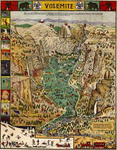 Yosemite, map style
