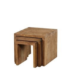 Nest of Tables Natural Teak