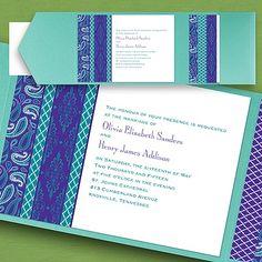 Moroccan Twilight  Pocket Invitation weddingneeds.carlsoncraft.com