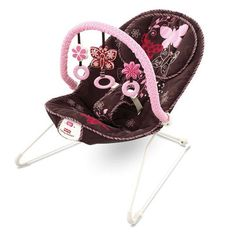 Fisher Price Comfy Time Pink Mocha Butterfly Bouncer with Vibration New | eBay