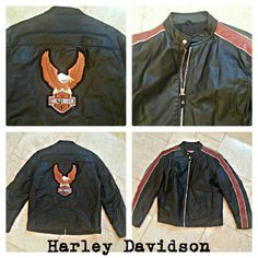 """SOLD IN BUNDLE"" HARLEY DAVIDSON SCREAMING EAGLE WICKEDLY COOL MEN'S or WOMEN'S all leather high quality rare coat, jacket in like NEW condition!  Has inside and outside pockets. Also, selling ladies matching coat.   All of my items come from extremely clean non-smoking non-pet home. Wilsons Leather Jackets & Coats"