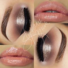 This look is perfect for a holiday party if you didn't want to do the red lip or smokey eye thing! A little bit of glitz, but soft and pretty. [Check this tag for more party looks]