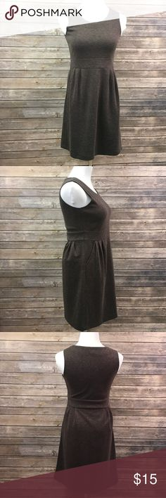 Gray Sleeveless Knit Dress EUC. Scoop neck. HAS POCKETS!  Measurements are approximate.   🛍10% off bundles 📦Fast Shipping! (Same day-1 day shipping) ✅Smoke free + pet free home 💌Packaged with care   ⭐️20% of earnings are donated to the A21 campaign that works toward ending human trafficking!⭐️  ❣️27 MILLION slaves worldwide- Most in history! 💔1-2% of victims are ever rescued ❣️The average age of a trafficking victim is 12 YRS OLD! 💲Every dollar makes a difference for the victims.  💝…