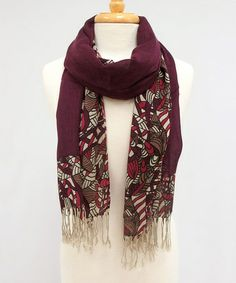 Look what I found on #zulily! Plum Vintage Fringe Shoot & Ladders Scarf by Veond #zulilyfinds