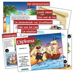 Kant en klare speurtochten: piratenspeurtocht Speurtocht: het piratenmysterie. De kinderen zoeken met behulp van aanwijzingen naar raadsels en uitdagingen die opgelost moeten worden om de sleutels van de schatkist te vinden. Als de kids alles op kunnen lossen, is de buit, de fantastische zeeroversschat, binnen! #speurtocht #kinderfeestje #leukekleren
