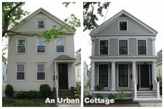 Greek Revival exterior renovation in Cambridge, MA - Before and After