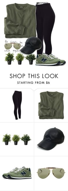 """#sportystyle"" by ana-anny-blagojevic ❤ liked on Polyvore featuring Vianel, New Balance, Ray-Ban and sportystyle"