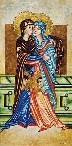 "Seeroon Yeretzian -SERIES / HOMAGE The Visitation Oil on canvas 48"" x 24"" 1997"