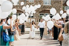 Epic white balloon unique wedding send off  White balloon wedding exit  Classic car wedding getaway vehicle  Rolls Royce wedding exit car  Garden Party Wedding Inspiration  Colorado Wedding Photographer Highlands Ranch Mansion Colorado Highlands Ranch Mansion Wedding Photos
