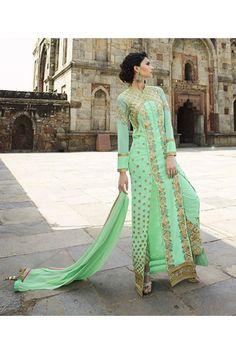 Party Wear Royal Georgette Slit Salwar Suit  - 15132