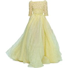 Satinee's collection - Elie Saab ❤ liked on Polyvore featuring dresses, gowns, long dresses, vestidos, elie saab, beige evening gown, elie saab ball gown, beige evening dress and beige long dress