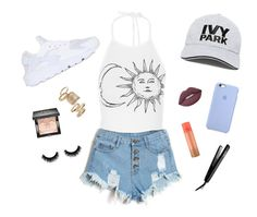 """""""☁️"""" by adelisamuskic ❤ liked on Polyvore featuring NIKE, Ivy Park, Topshop, Givenchy, Lime Crime and José Eber"""