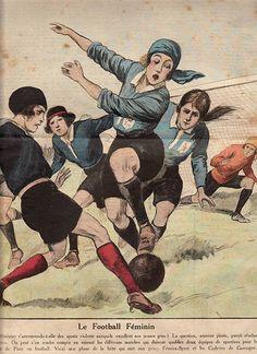 O futebol feminino, sem data, França