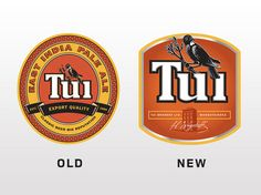 Tui rebrand before and after