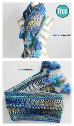 Waves Hairpin Lace Scarf Free Crochet Pattern