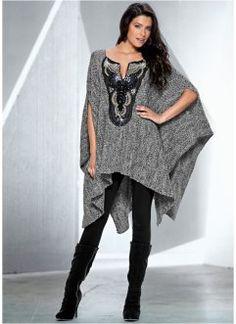 Poncho, BODYFLIRT boutique, grijs gemêleerd